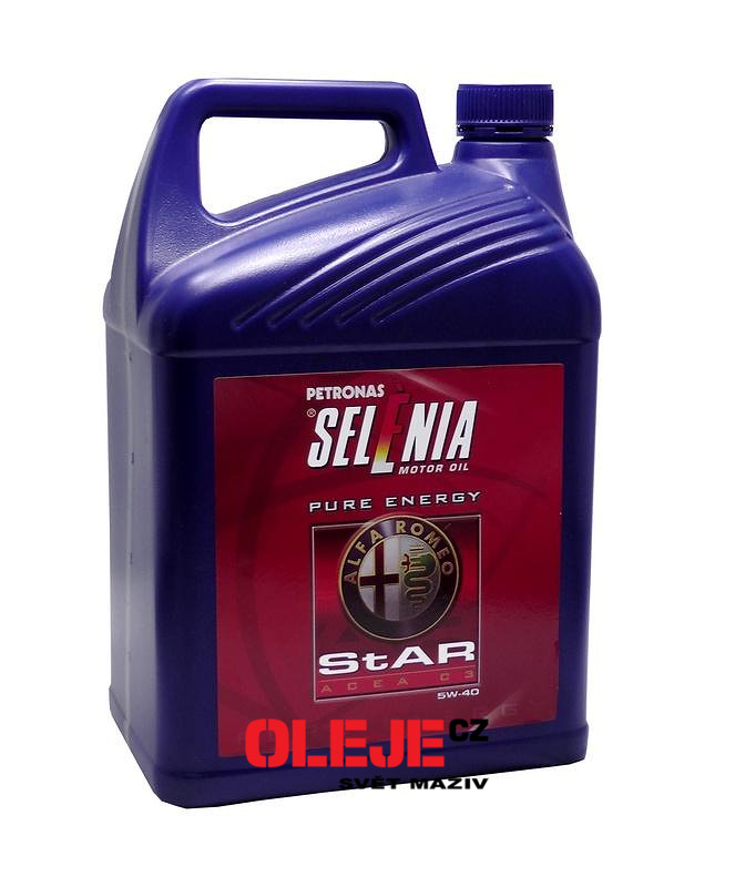 Selenia star pure energy 5w 40 5 l 5 star energy